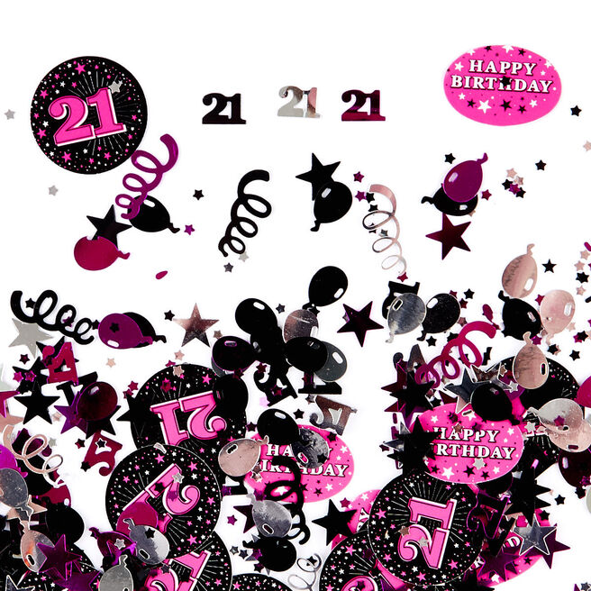 21st Birthday Pink Foiletti - Pack Of Three