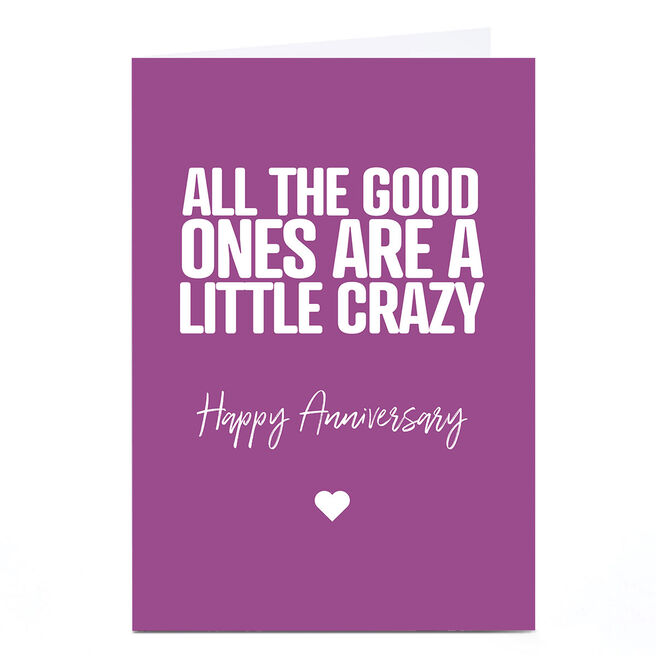 Personalised Punk Cards Anniversary Card - Little Crazy
