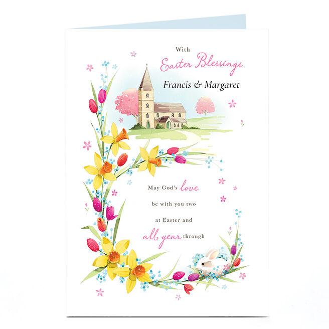 Personalised Easter Card - Easter Blessings