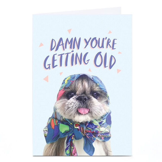 Personalised Jolly Awesome Birthday Card - Damn You're Getting Old