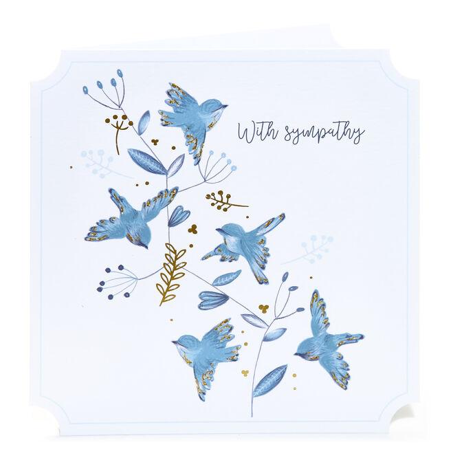 Sympathy Card - Blue Birds