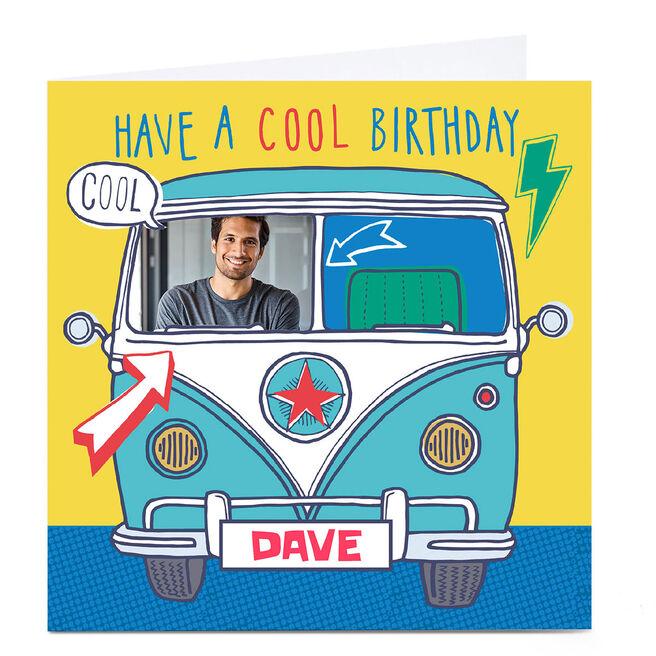 Photo Bev Hopwood Birthday Card - Camper Van