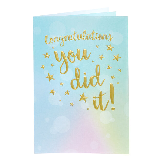 Congratulations Card - You Did It!