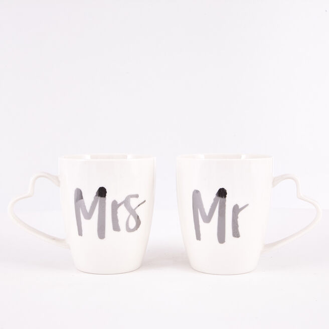 Mr & Mrs Wedding Mug Set