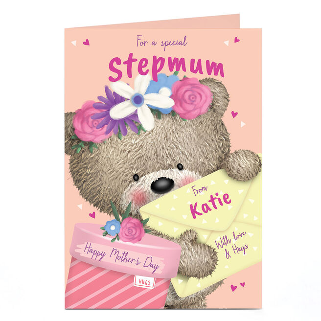Personalised Hugs Bear Mother's Day Card - With Love