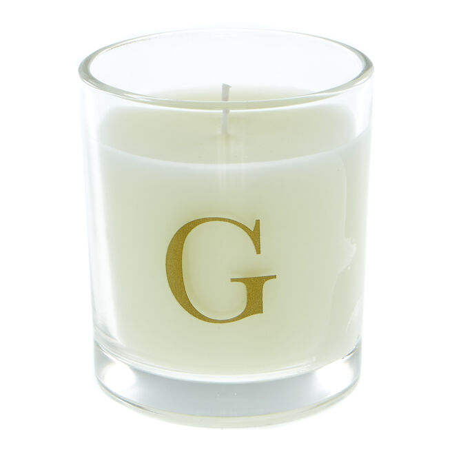 Letter G Warm Cashmere Scented Candle