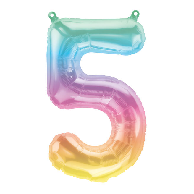 Jeli Ombre Air-Inflated Number 5 Balloon