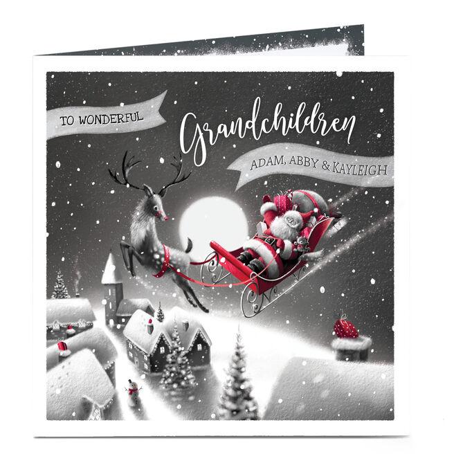 Personalised Christmas Card - For Wonderful Grandchildren