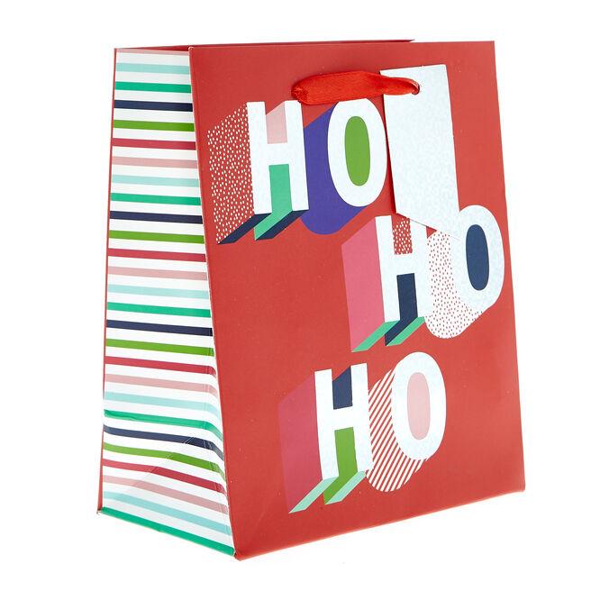 Miniature Portrait Ho Ho Ho Christmas Gift Bag