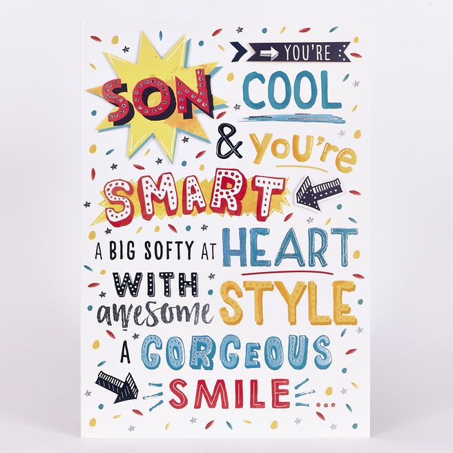 Signature Collection Birthday Card - Son, Cool & Smart