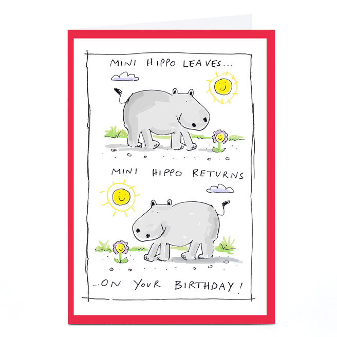 Personalised Vicar Of Scribbly Card - Mini Hippo Returns