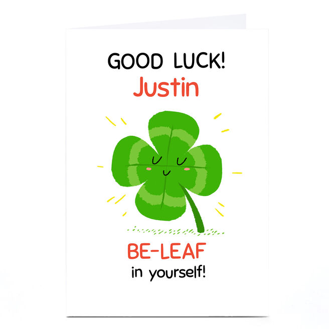 Personalised A Sense of Hew Ma Good Luck Card