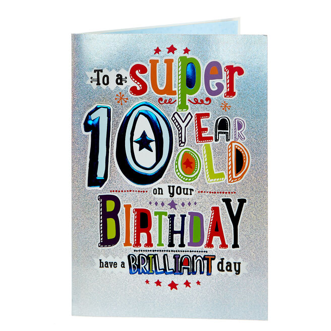 10th Birthday Card - Have A Brilliant Day