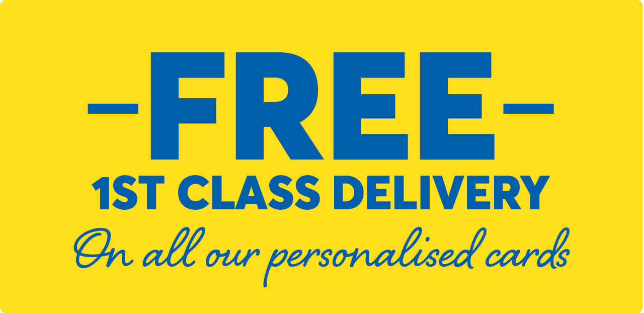Free 1st class delivery