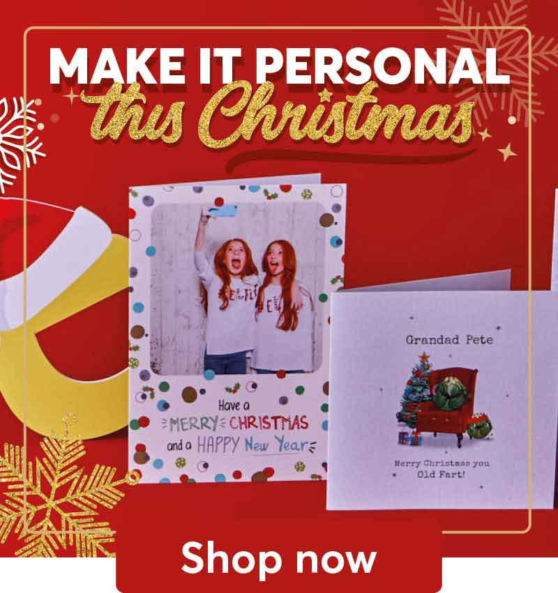All personalised cards comes with free 1st class delivery