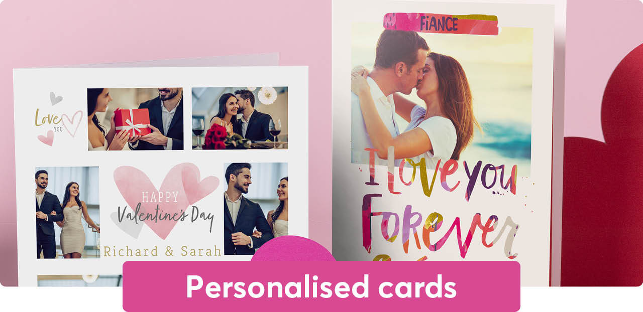Valentine's Day personalised cards