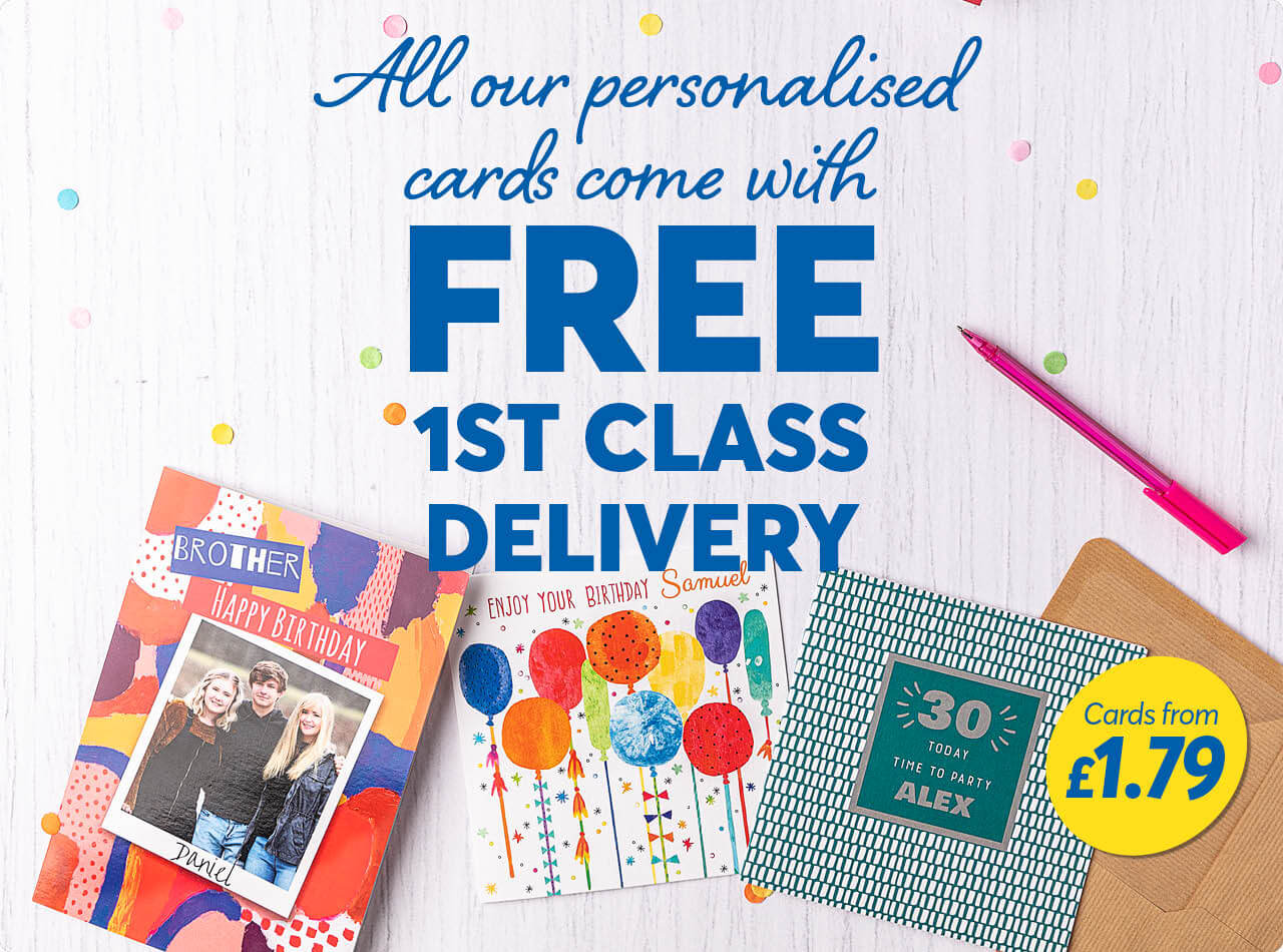 Personalised Cards Personalised Birthday Greeting Cards Online Uk Card Factory