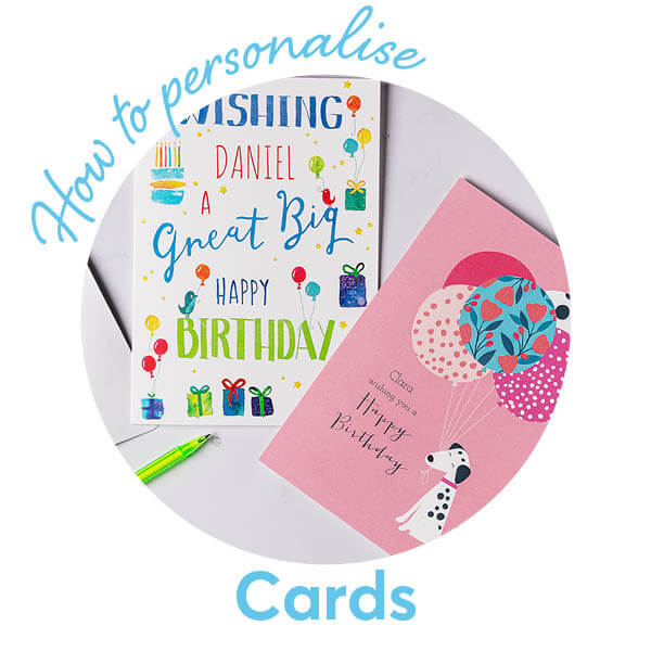 How to personalise a card