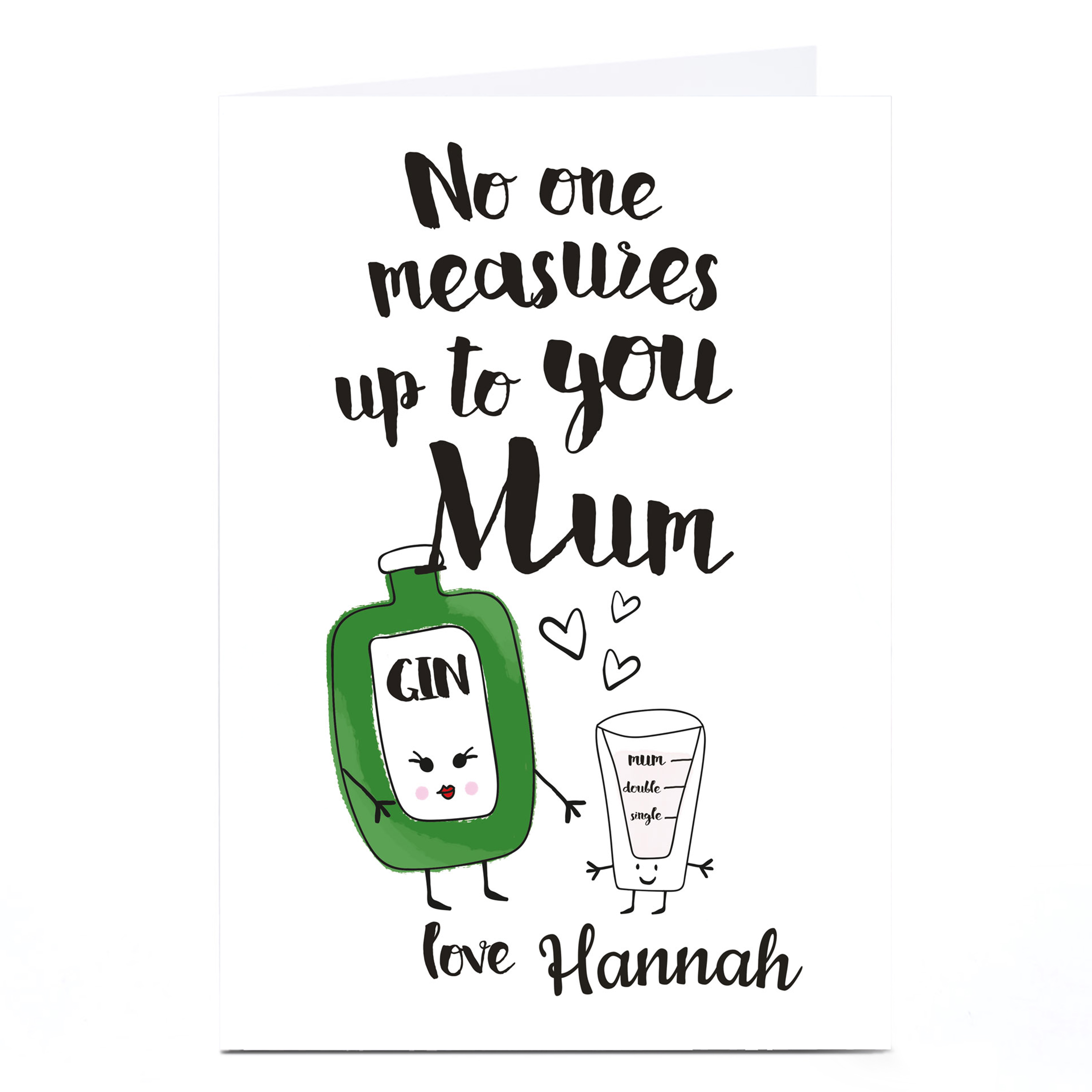 Personalised Card - Mum Gin Measures