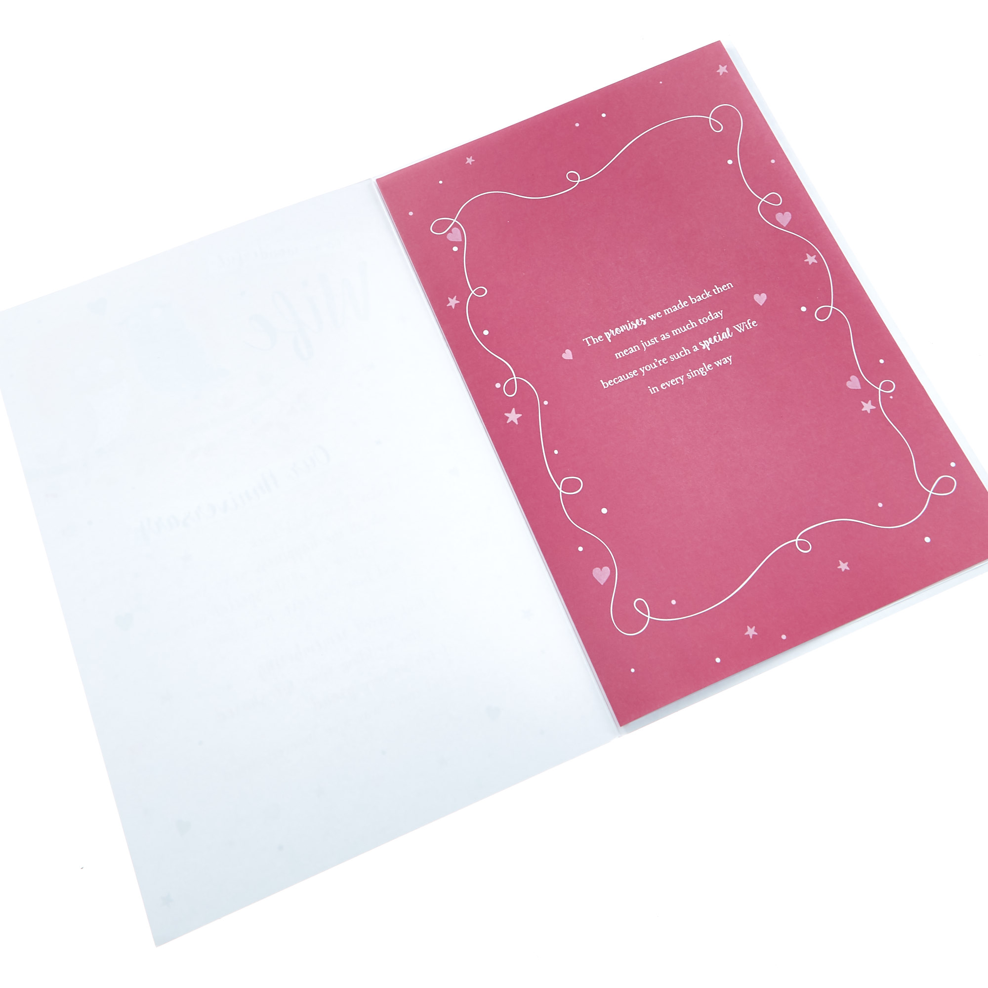 buy anniversary card  wonderful wife owls for gbp 099