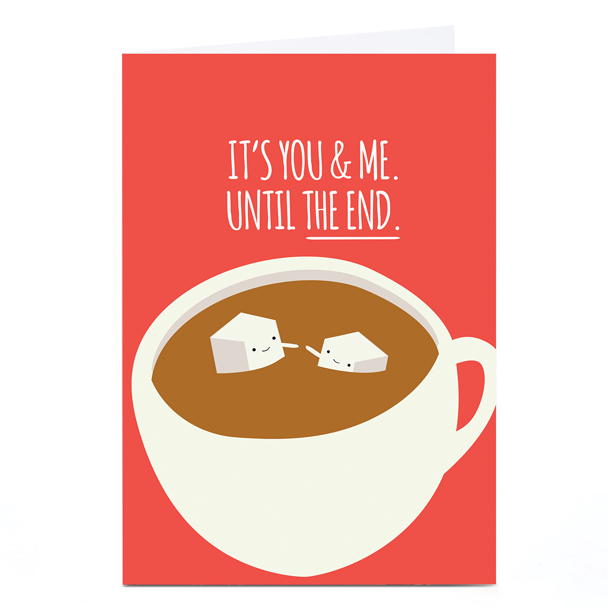 Personalised Jolly Awesome Card - It's You And Me Until The End