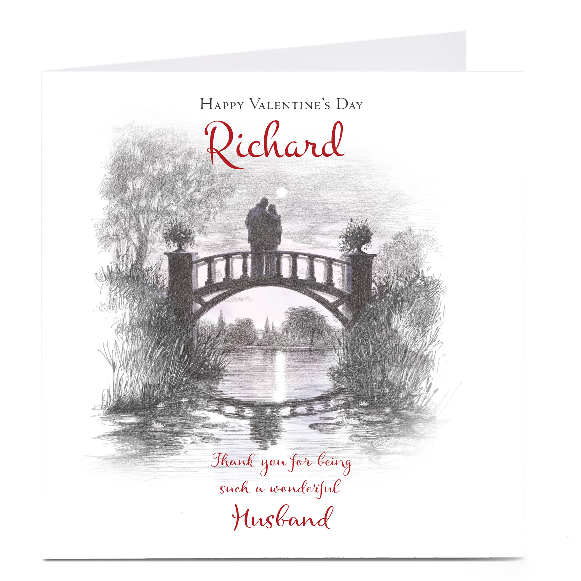 Personalised Valentine's Card - Such A Wonderful Husband