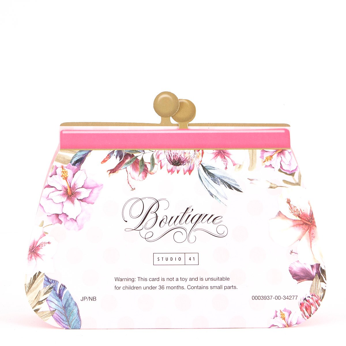Boutique Collection Birthday Card - Granddaughter, Clutch Bag