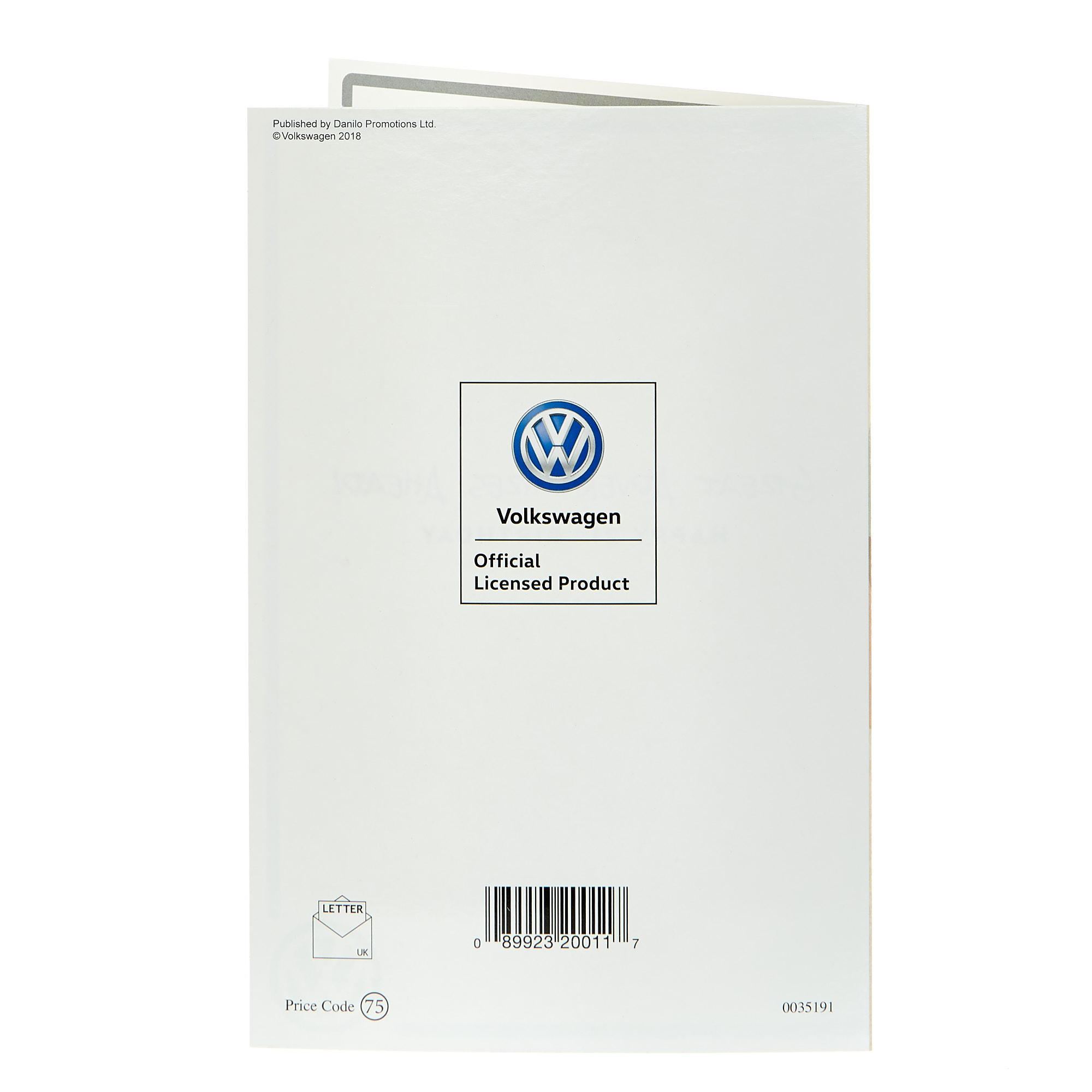 Volkswagen 21st Birthday Card