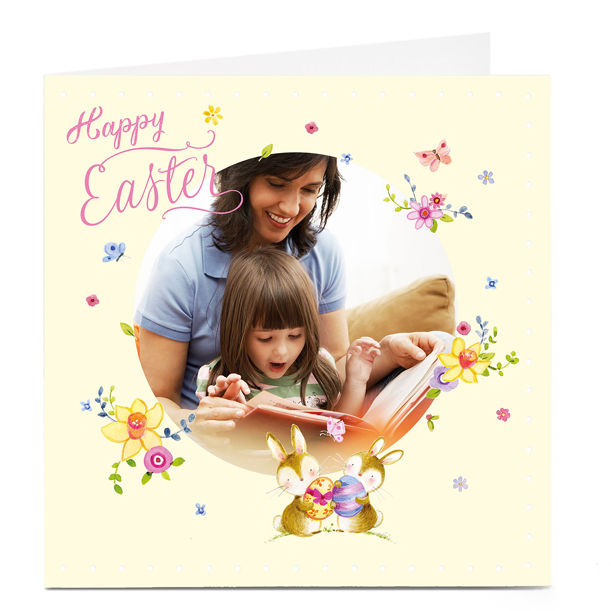 Photo Upload Easter Card - Easter Bunnies