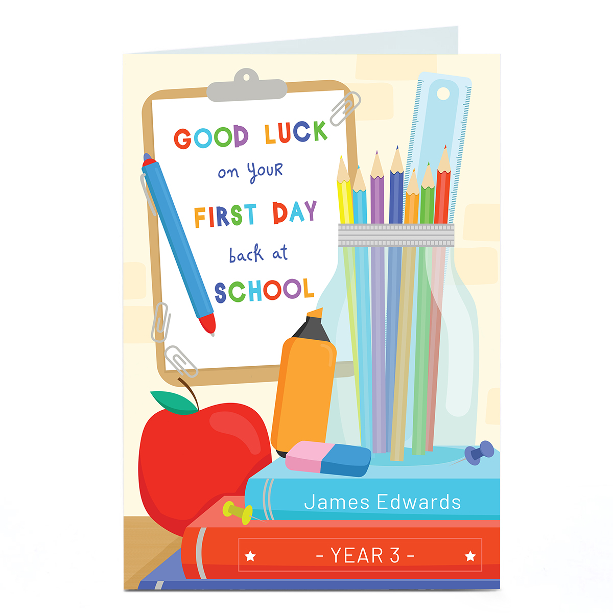 Personalised Card - First Day of School