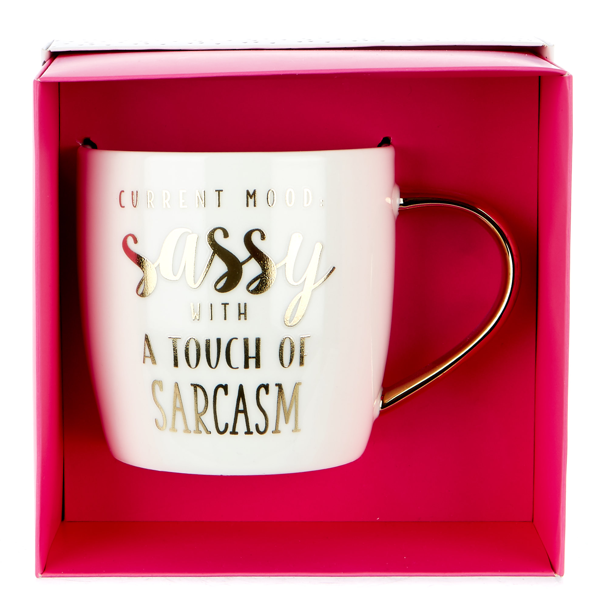 "Sassy With A Touch Of Sarcasm"" Mug"""