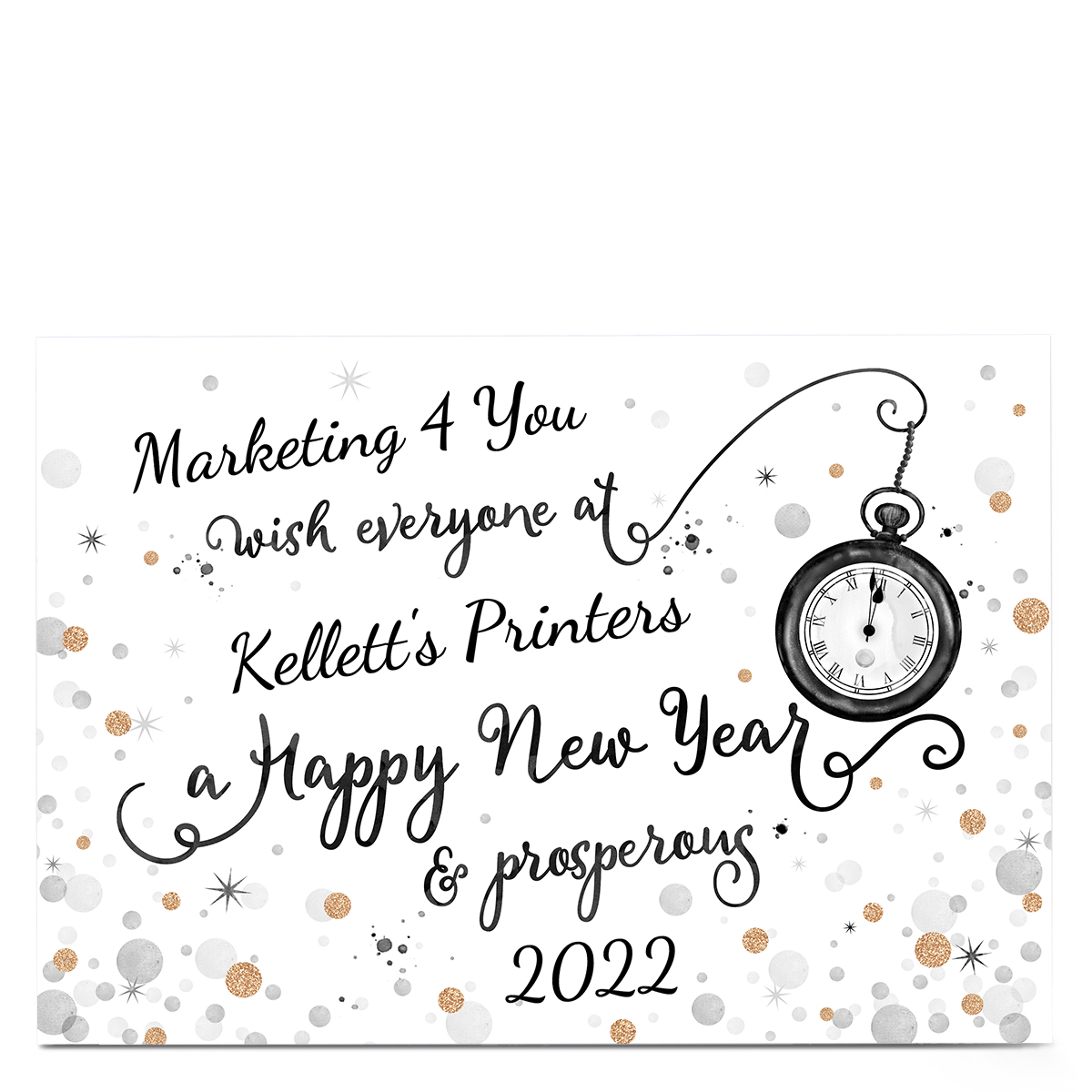 Personalised Business Christmas Card - Happy New Year