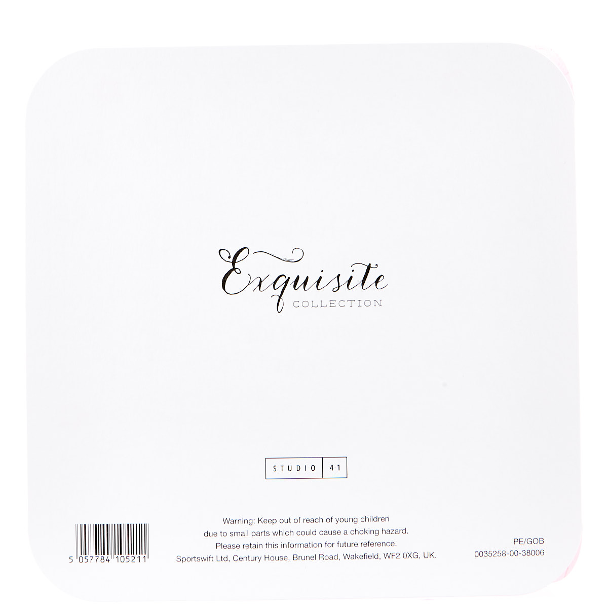 Exquisite Collection 1st Birthday Card - Any Female Recipient (Stickers Included)
