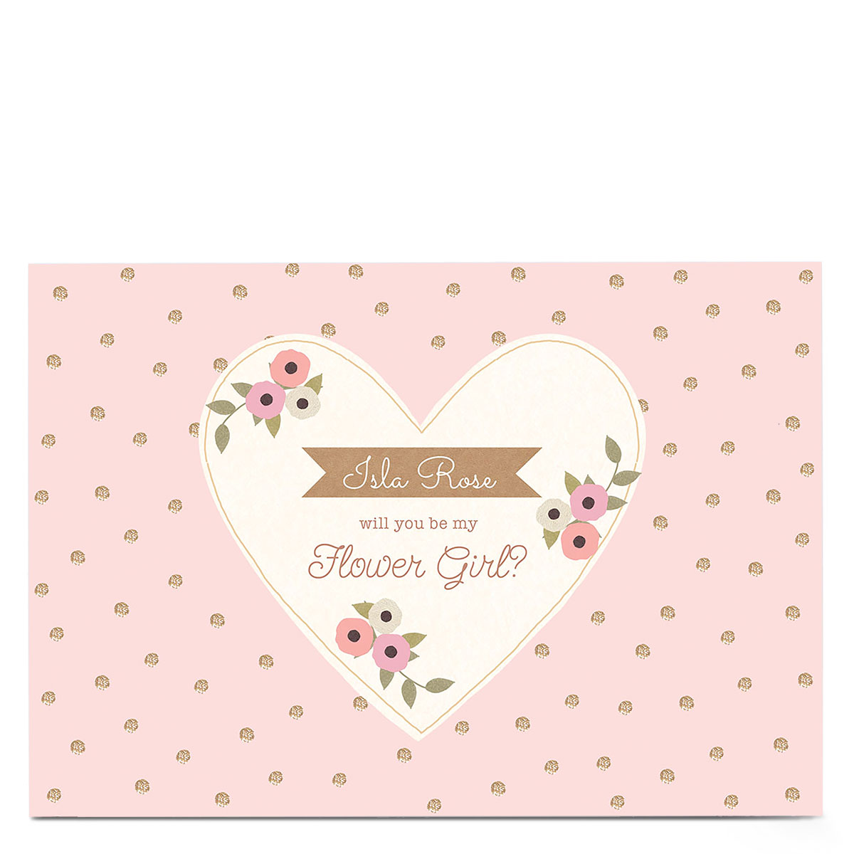 Personalised Wedding Card - Be My Flower Girl