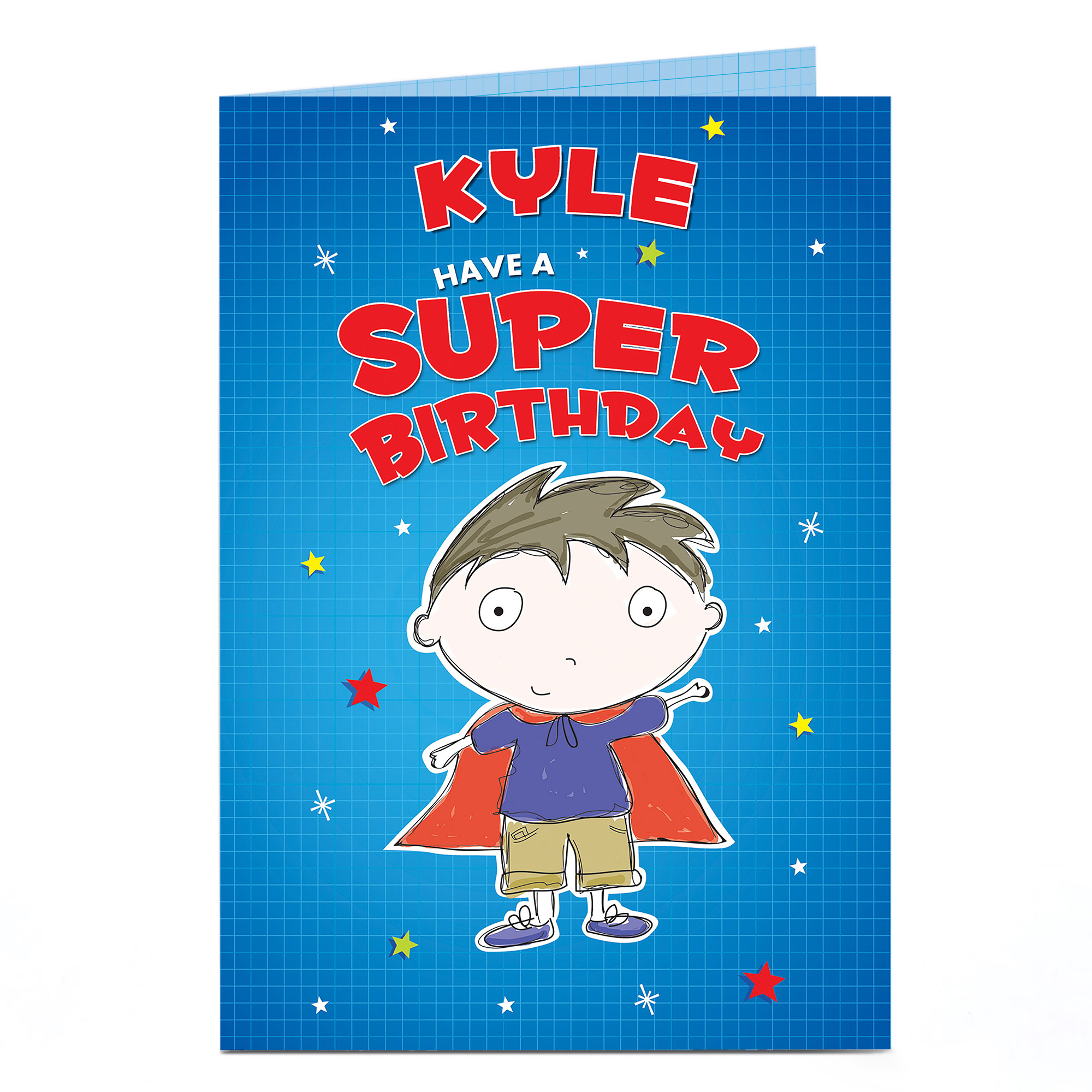 Personalised Birthday Card - Have A Super Birthday
