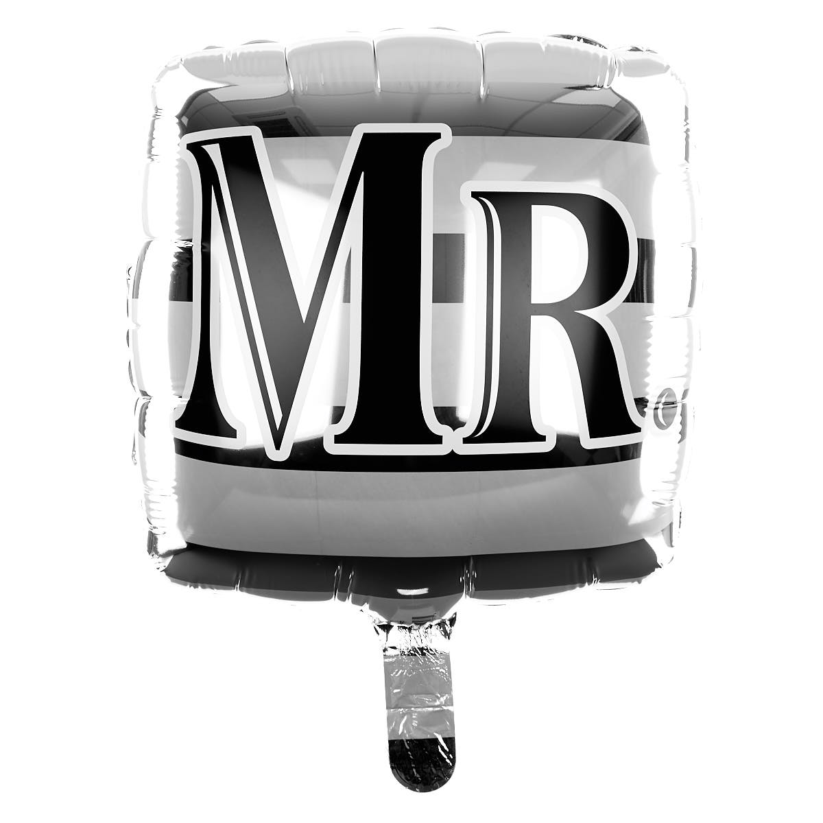 Square 'Mr' Helium Balloon (Deflated)