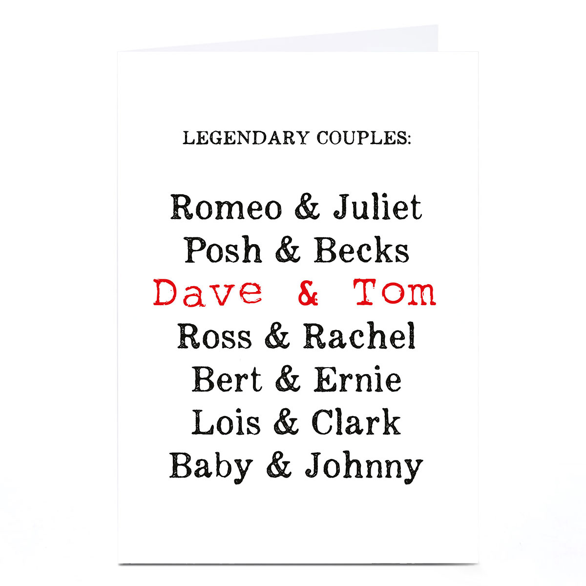 Personalised Card - Power Couples