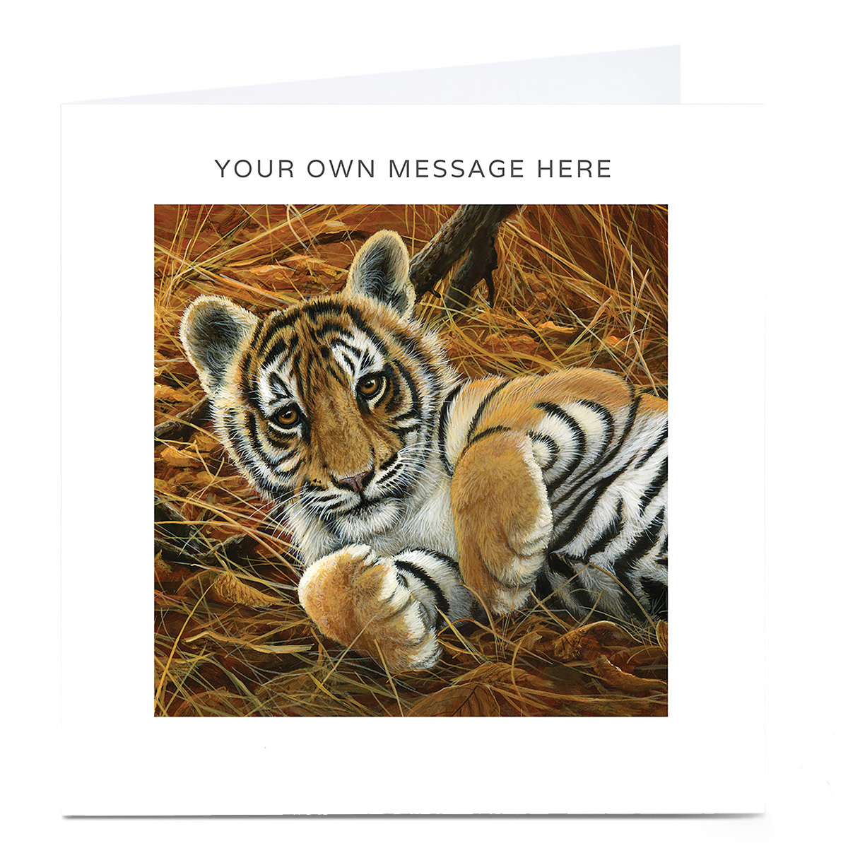 Personalised Card - Tiger Cub