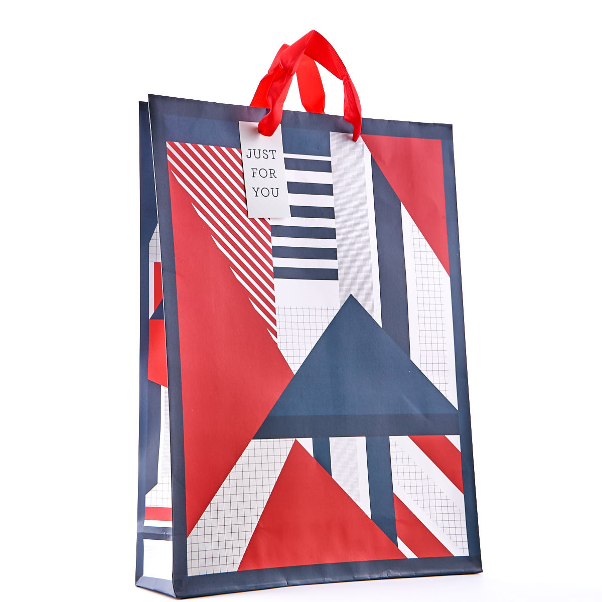 Red & Blue Geometric Extra Large Gift Bag