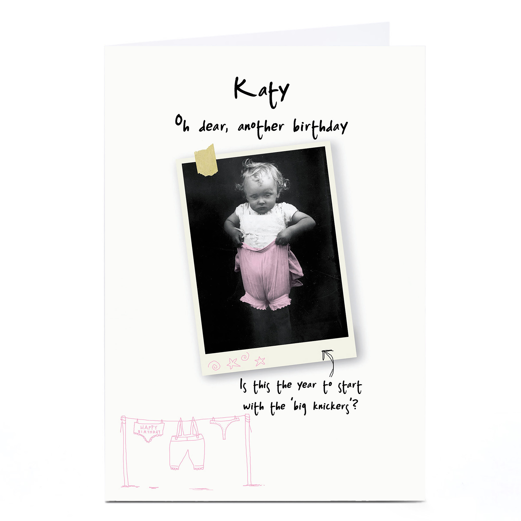 Personalised Birthday Card - Big Knickers