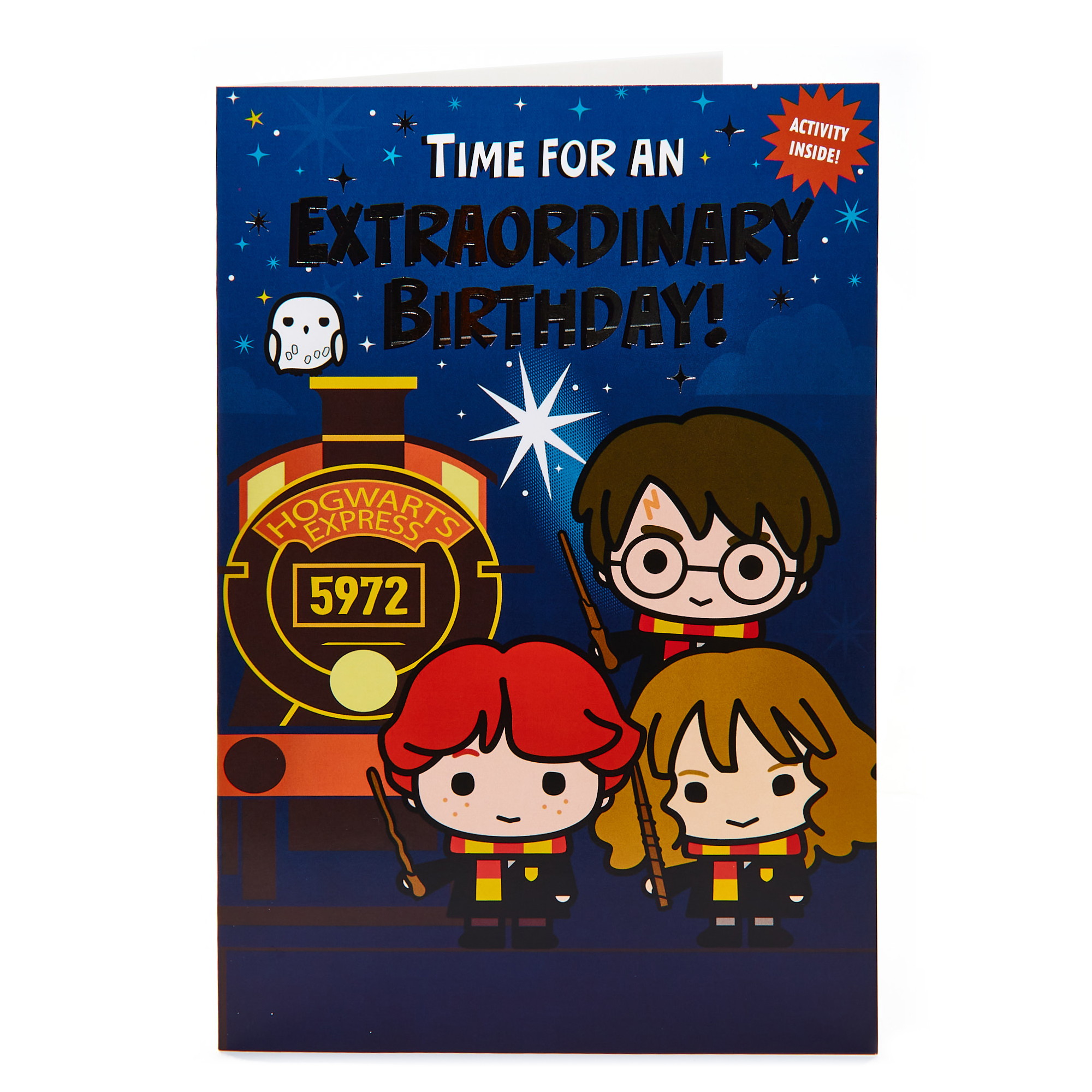 buy harry potter birthday card  activity inside for gbp