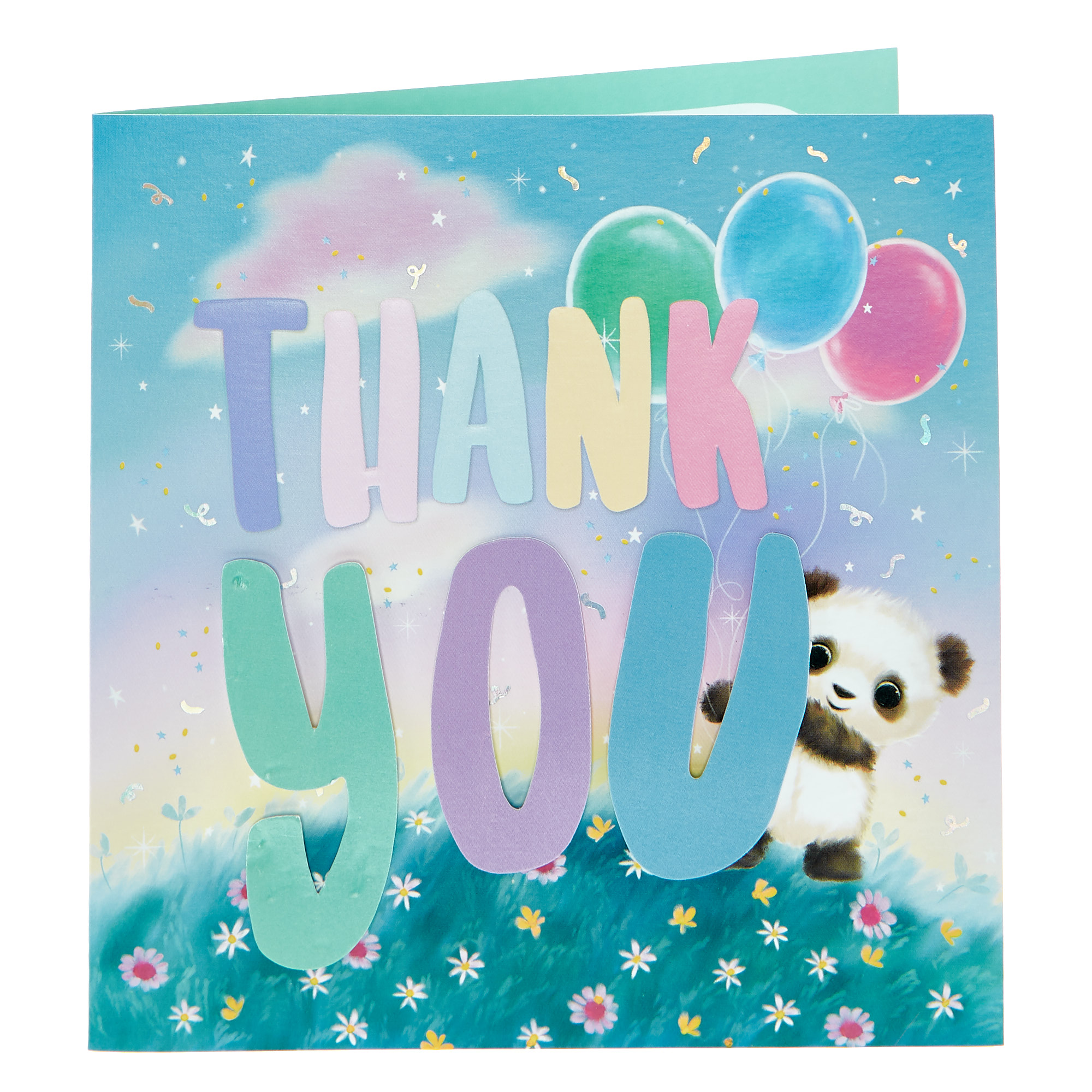 Boutique Collection Thank You Card - Panda