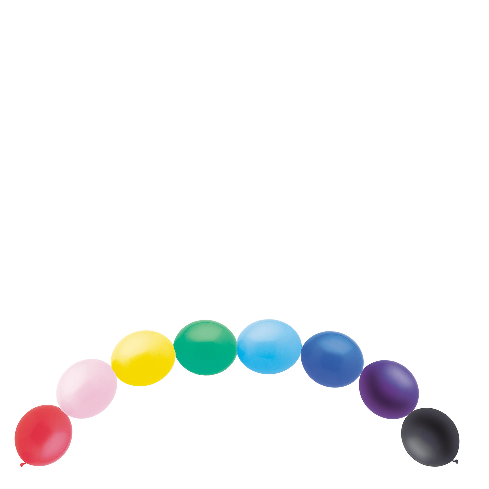 Multi-Coloured Linking Latex Balloons