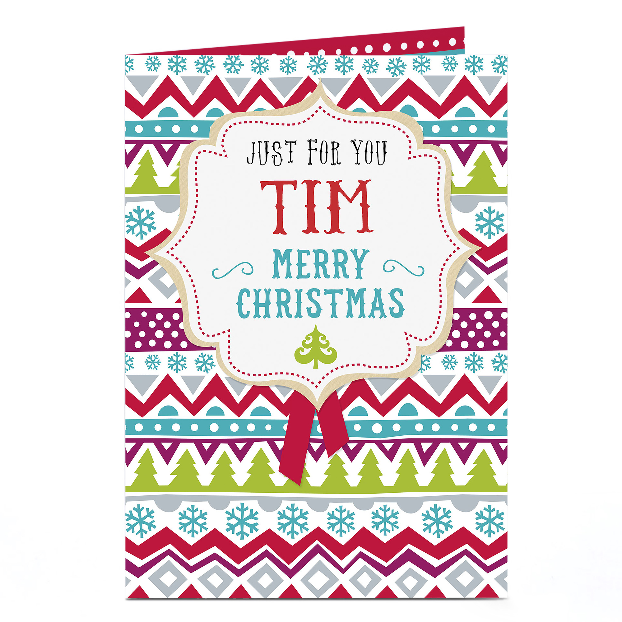 Personalised Christmas Card - Festive Design