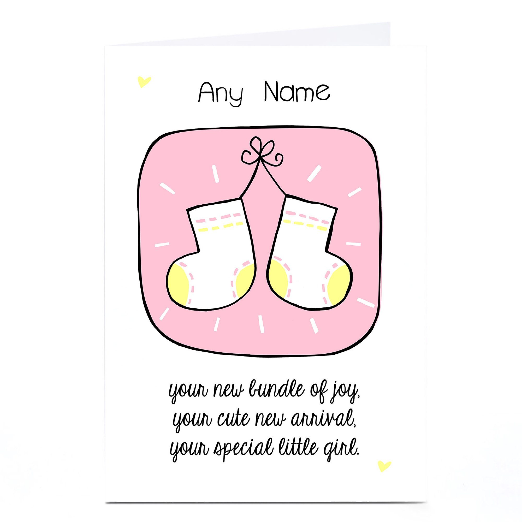 Personalised New Baby Card - Special Little Girl