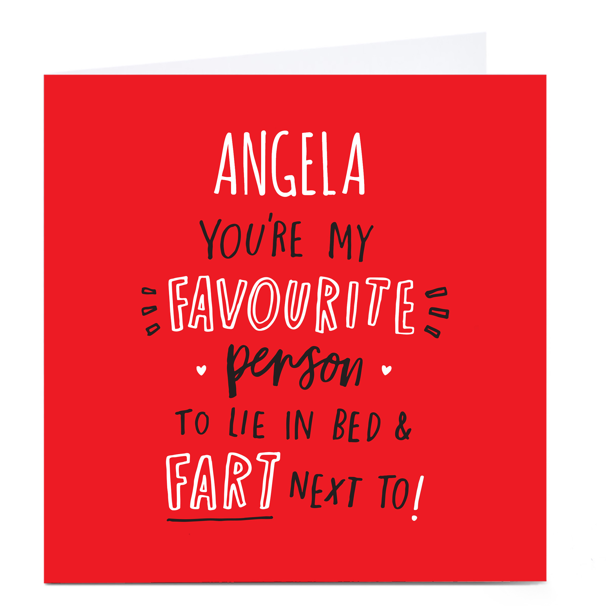 Personalised Valentine's Card - You're My Favourite Person