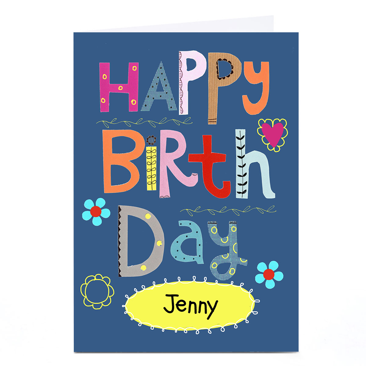 Personalised Lindsay Loves To Draw Birthday Card - Happy Birthday