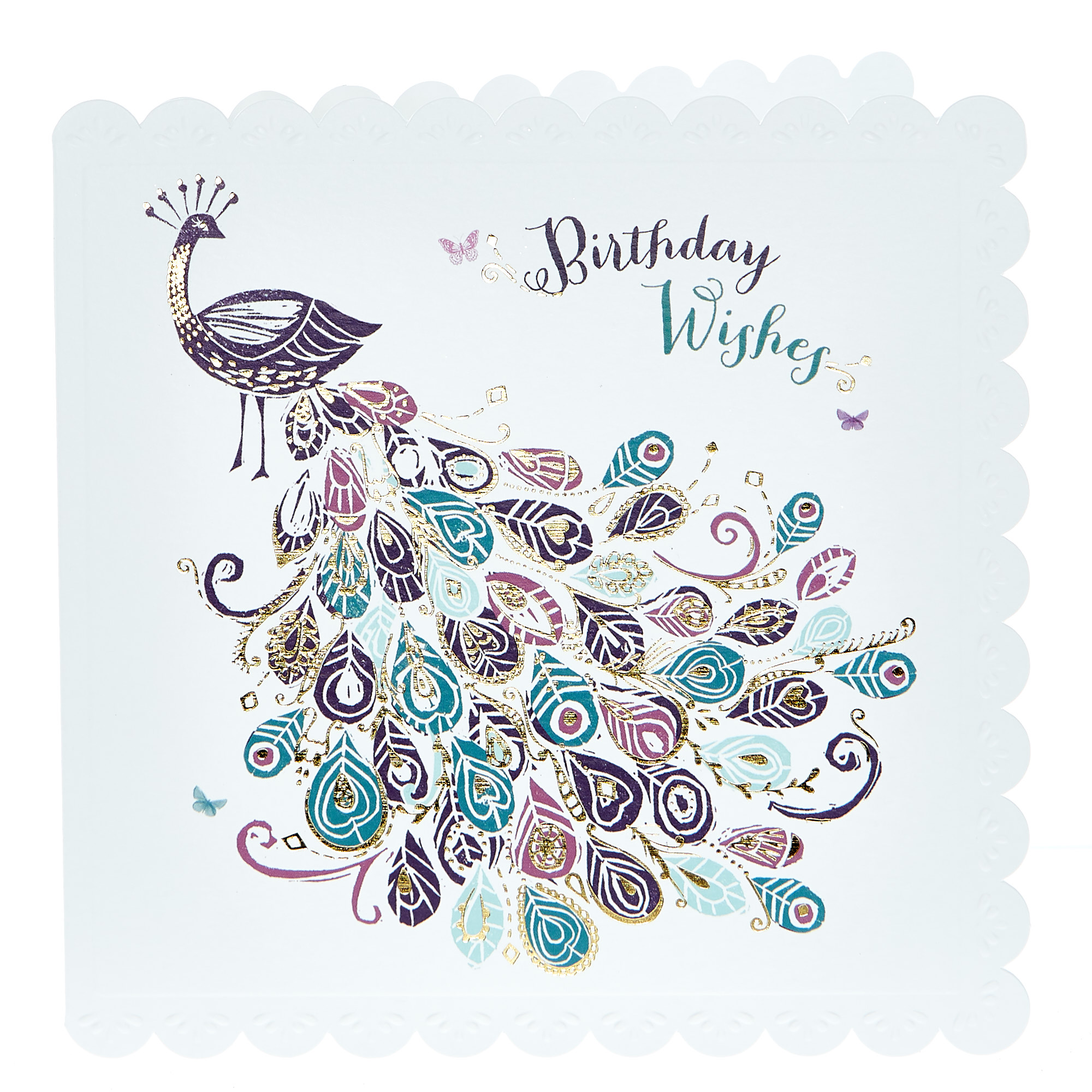 buy birthday card  peacock for gbp 099  card factory uk