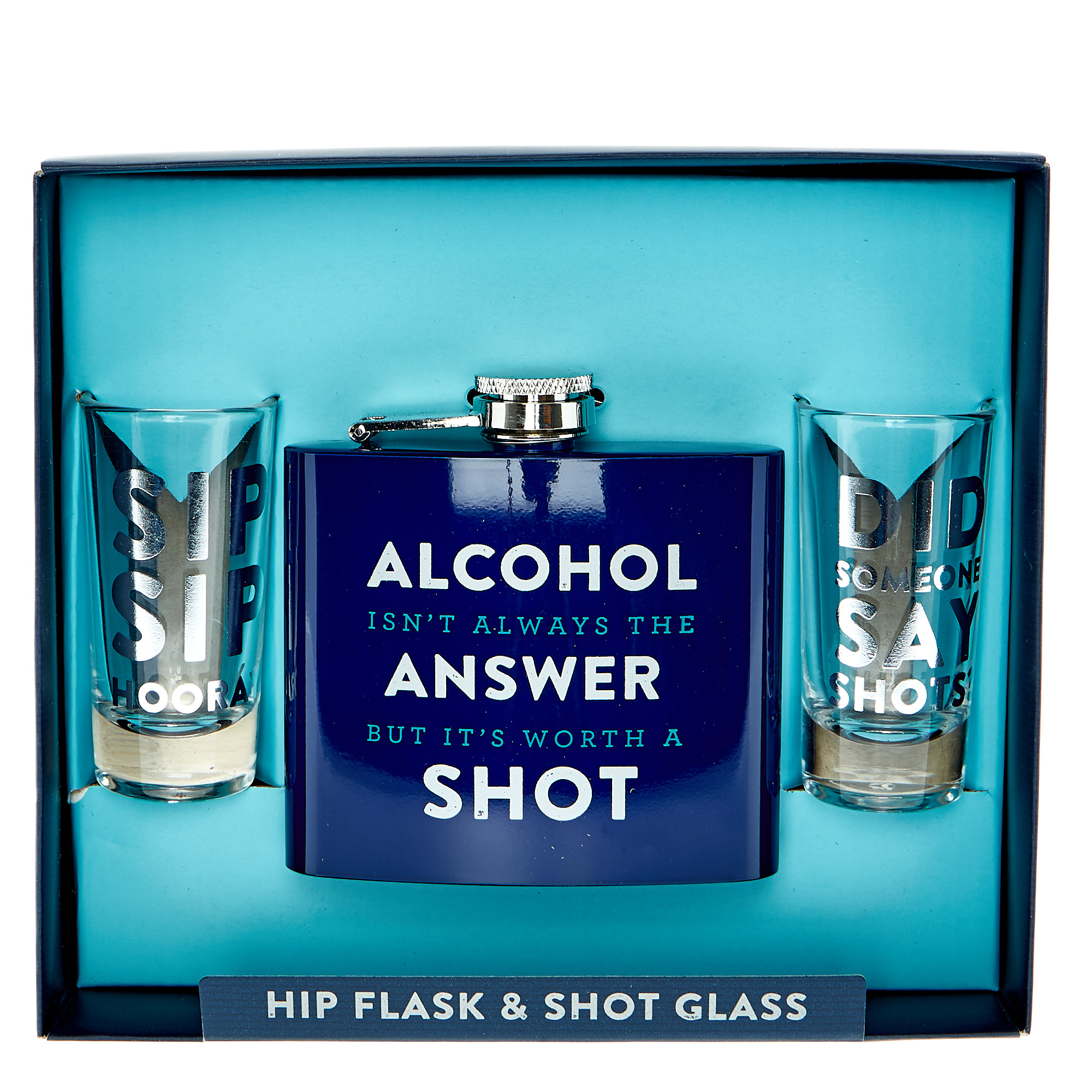 Men's Hip Flask & Shot Glasses Gift Set
