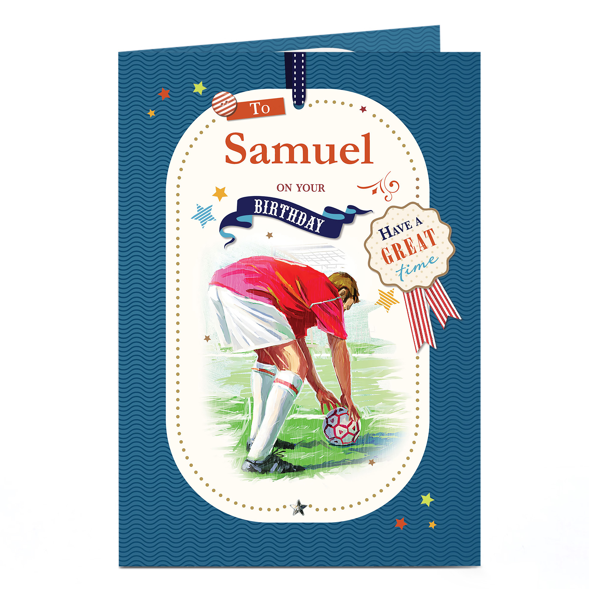 Personalised Birthday Card - Penalty Kick